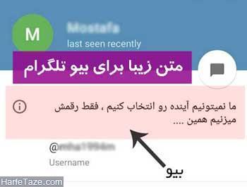 بیوگرافی برای تلگرام دخترانه